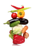 Gemüse enthält viele Vitamine und Lutein, wichtig für die Behandlung der Makuladegeneration.